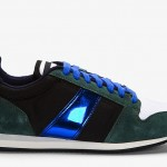 AMI Forest Green Suede Metallic-trimmed Sneakers: We're real friends