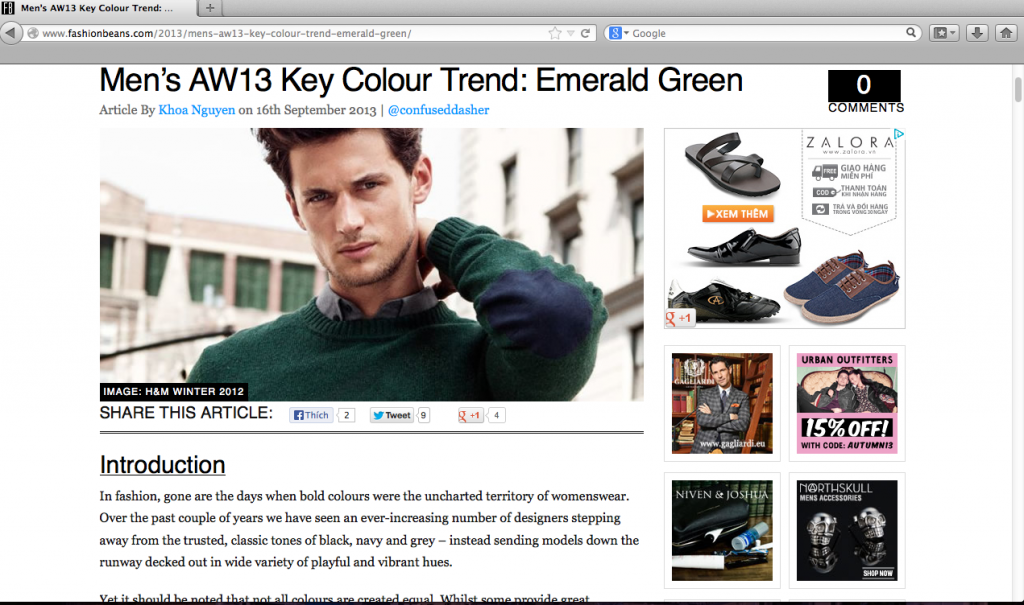 mens-aw13-key-colour-trend-emerald-green fashion beans, confused dasher