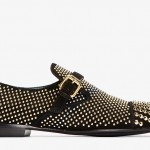 Zanotti Black Studded Suede Buckled Loafers: The ultimate showstopper