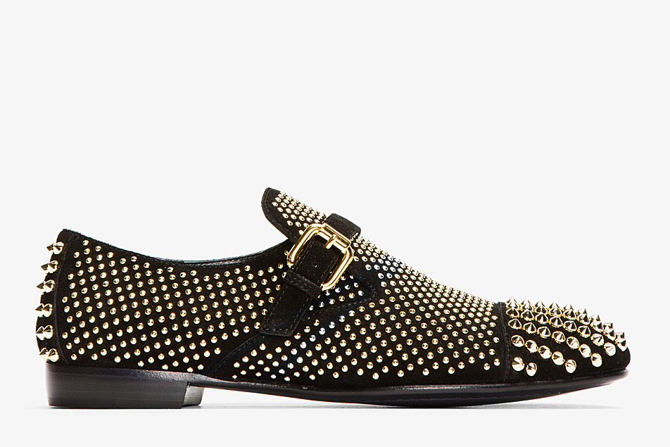 manchester great sale cheap price Giuseppe Zanotti Studded Suede Loafers clearance purchase outlet 2014 new gGcnKdKGE