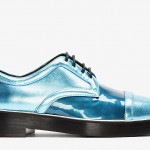 Nicholas Kirkwood Bright Blue Metallic Leather Derbys: The boldest derbys ever