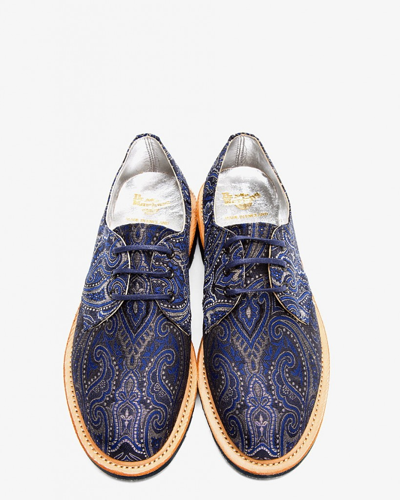 "DR. MARTENS NAVY METALLIC PAISLEY ""MADE IN ENGLAND"" LESTER 3-EYE DERBYS, best derbys shoes for fall men, affordable derbys for men, confused dasher"