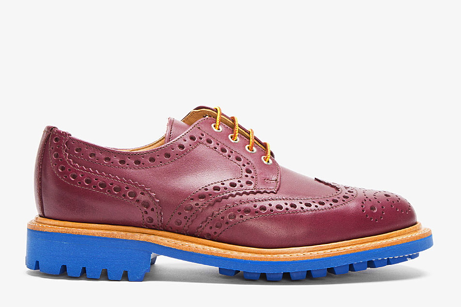 confused dasher, best wingtip brogues for men in 2013, MARK MCNAIRY BURGUNDY LEATHER BLUE-SOLED WINGTIP BROGUES
