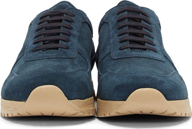 Common Projects Peacock Blue Suede Track Sneakers, best designer sneakers for men this fall 2014