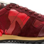 Valentino Red & Black Camo Sneakers: Let Paint The Town Red