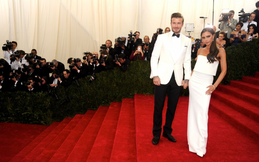 David Beckham Victoria MET Ball