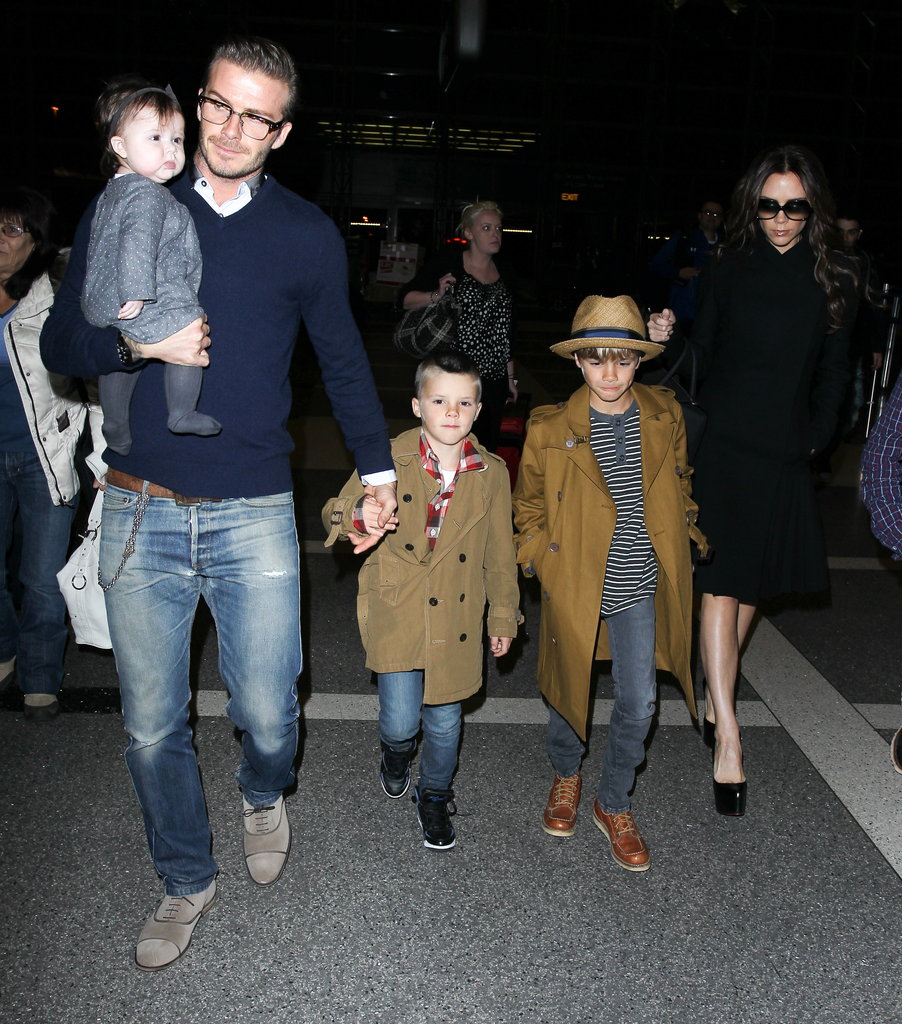 David-Victoria-Beckham-Travel-Family-Fashion