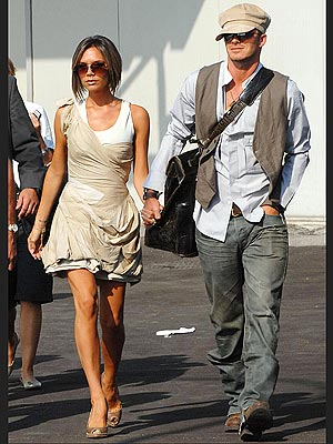Victoria Beckham David Beckham Travel in Style
