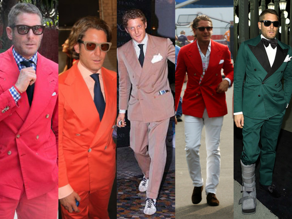 Lapo Elkann Colorful Vests