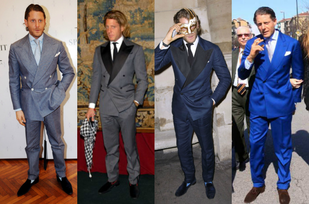 Lapo Elkann Double Breast Suits