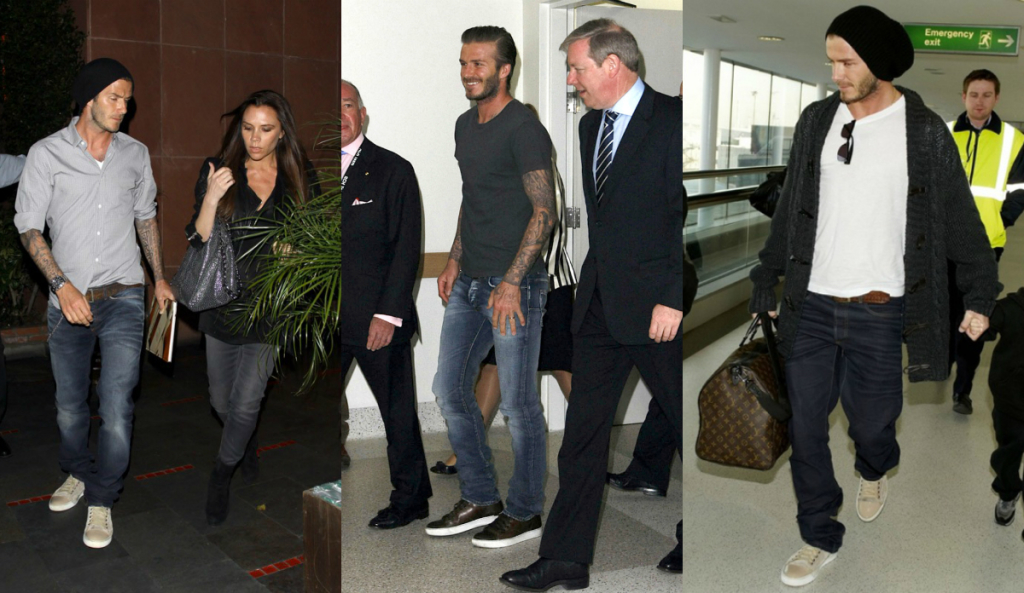David Beckham wearing iconic Lanvin sneakers