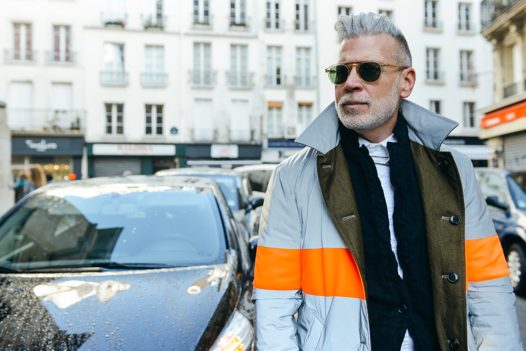 confused dasher, fall winter 2015 menswear fashion weeks best street style photos, nick wooster street style pitto uomo florence 2015, most fashionable coats on the streets of london milan paris florence 2015