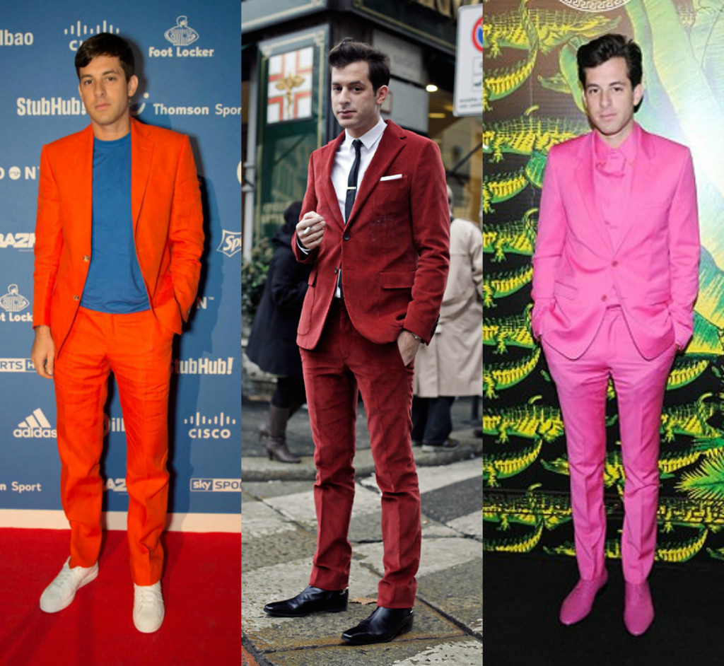 Mark Ronson Colorful Suits