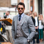 Hot Stuff: David Gandy Out and About at London Collections Men