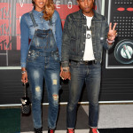 Slayed It: Pharrell in Denim-on-Denim at 2015 MTV VMAs